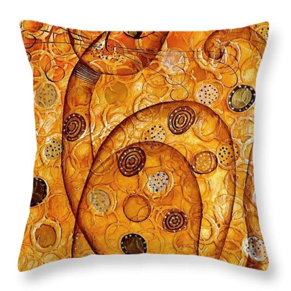 Cats 694 Throw Pillow by Marek Lutek