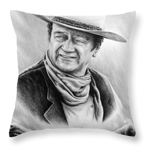 cattle drive bw version Throw Pillow by Andrew Read
