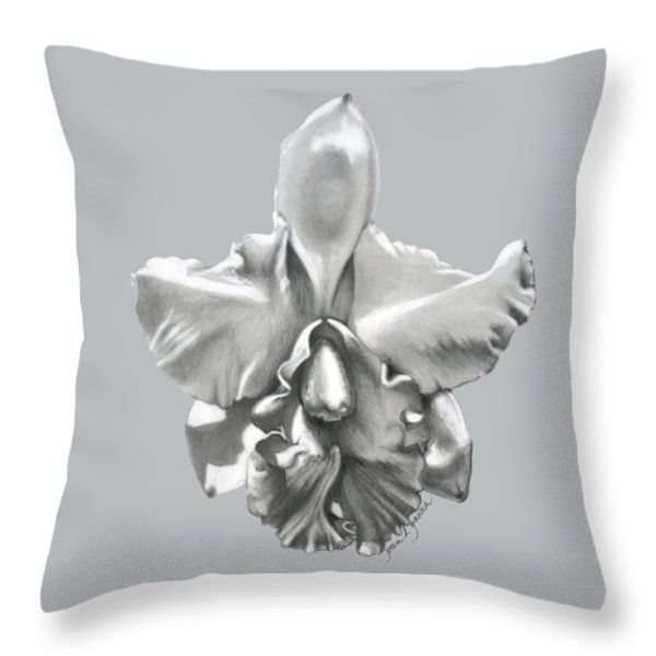 CATTLEYA I - Sweet Dreams Throw Pillow by Joan Garcia