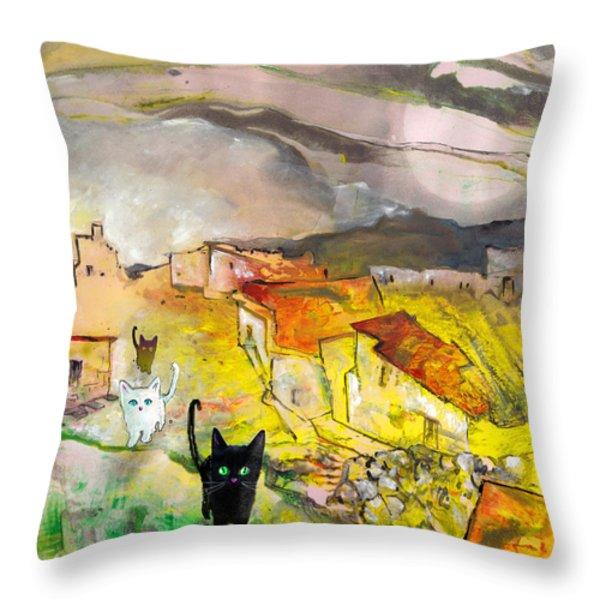 Catwalk Throw Pillow by Miki De Goodaboom