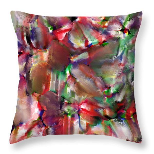caught in the crowd water color and pastel Throw Pillow by Sir Josef  Putsche