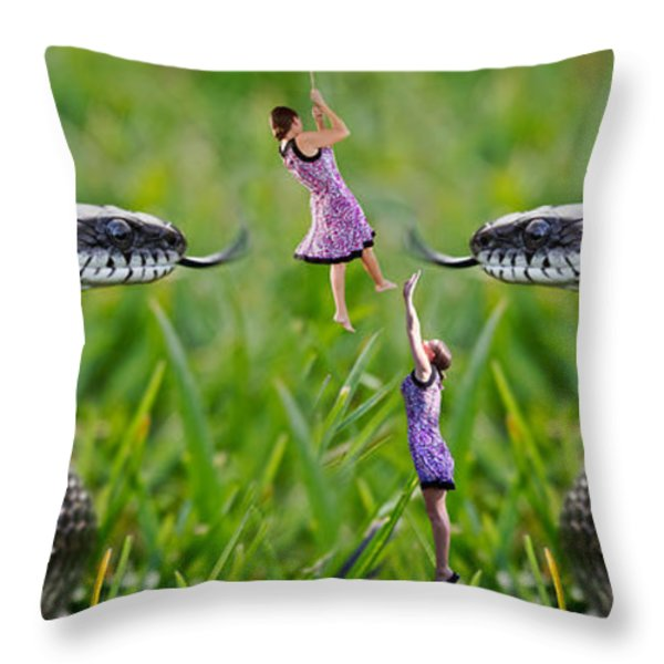 Caught in the Middle Throw Pillow by Betsy A  Cutler