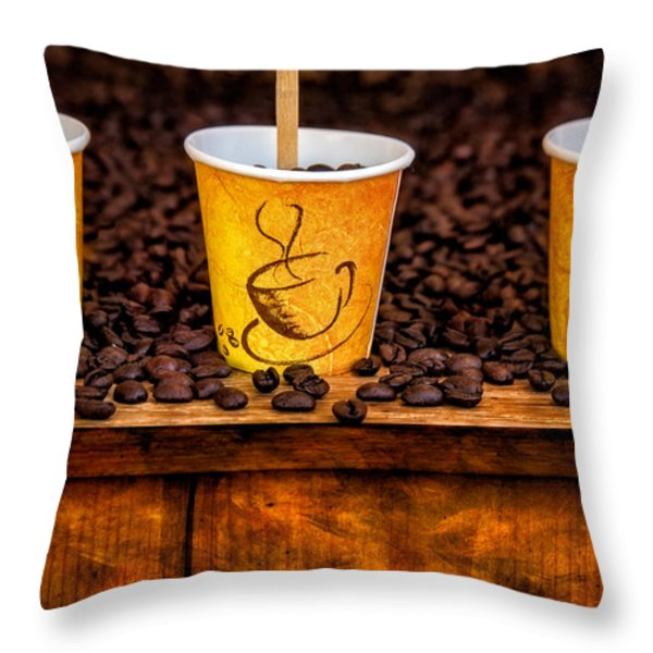 Caution... Contents Hot Throw Pillow by Susan Candelario