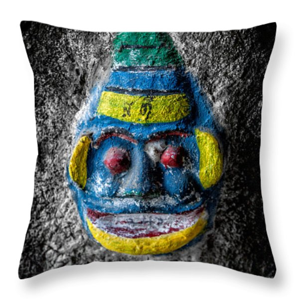 Cave Face 3 Throw Pillow by Adrian Evans