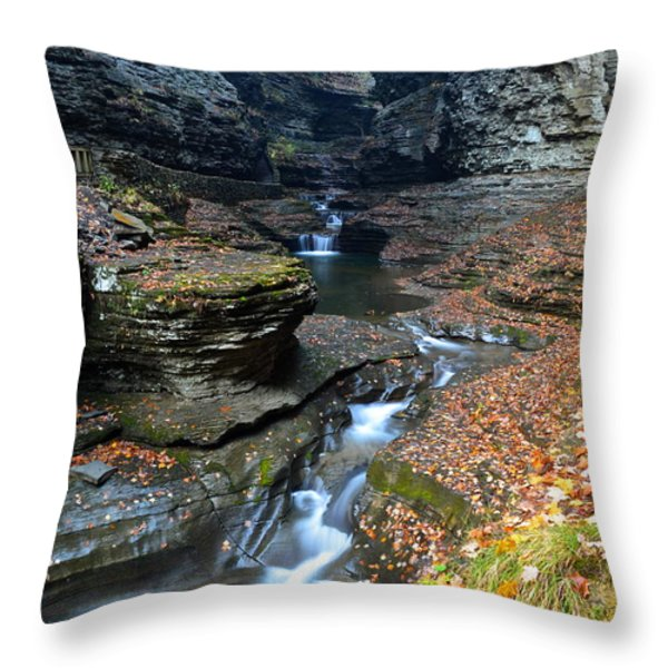 Cavernous Walls Throw Pillow by Frozen in Time Fine Art Photography