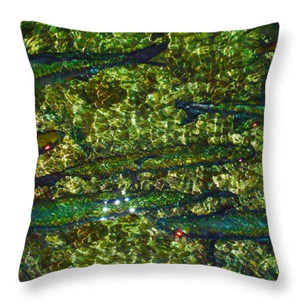 Cayman Tarpon Throw Pillow by Carey Chen
