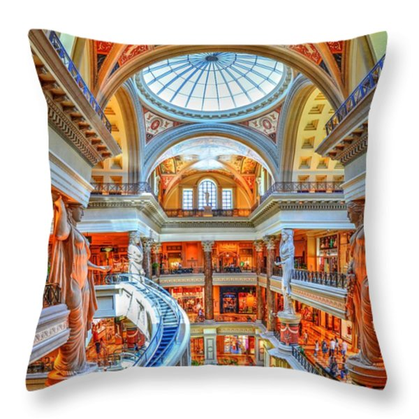 Ceasar's New Palace Throw Pillow by Paul Mashburn