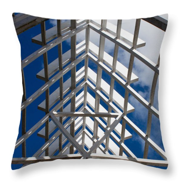 Ceiling Beam Throw Pillow by Thomas Marchessault