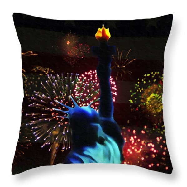 Celebrate America Throw Pillow by Bill Cannon