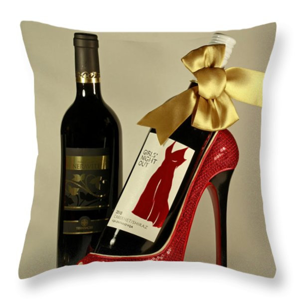Celebrate In Style With Merlot And Cabernet Throw Pillow by Inspired Nature Photography By Shelley Myke
