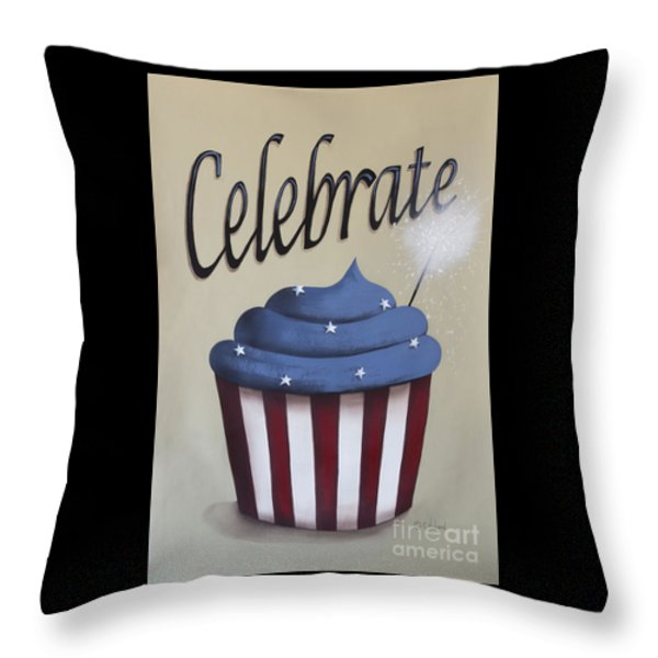 Celebrate The 4th Of July Throw Pillow by Catherine Holman