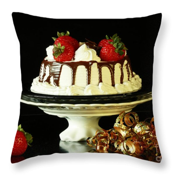 Celebrate With Cake Throw Pillow by Inspired Nature Photography By Shelley Myke