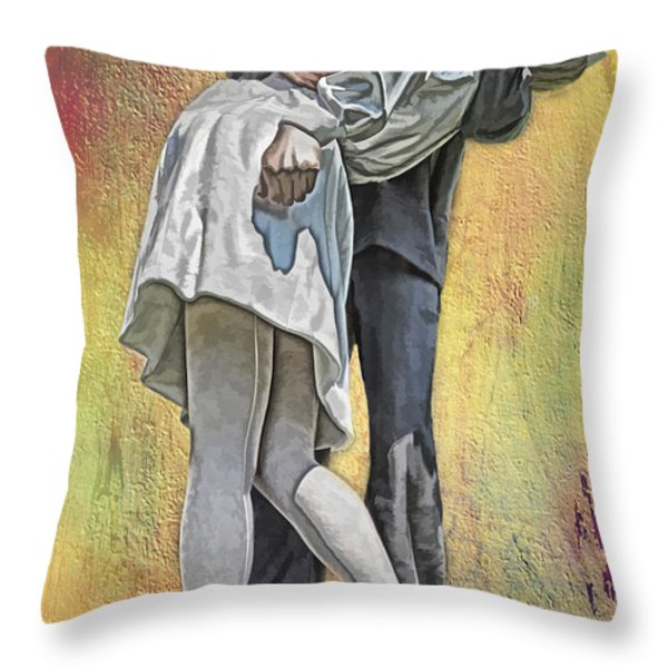 Celebration Embrace Throw Pillow by Tom Gari Gallery-Three-Photography