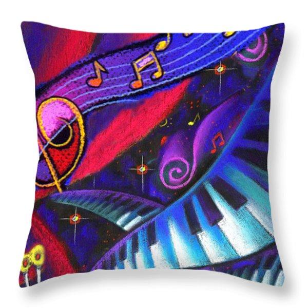 Celebration Throw Pillow by Leon Zernitsky