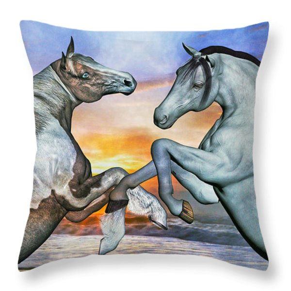 Celebration Of Dawn Throw Pillow by Betsy A  Cutler