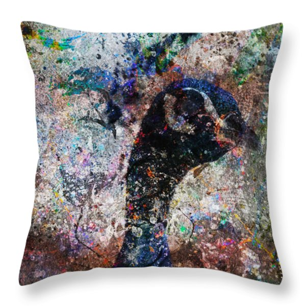 Celebration Of The Peacock Throw Pillow by Nola Lee Kelsey