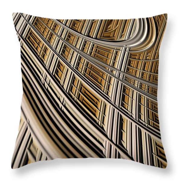 Celestial Harp Throw Pillow by John Edwards