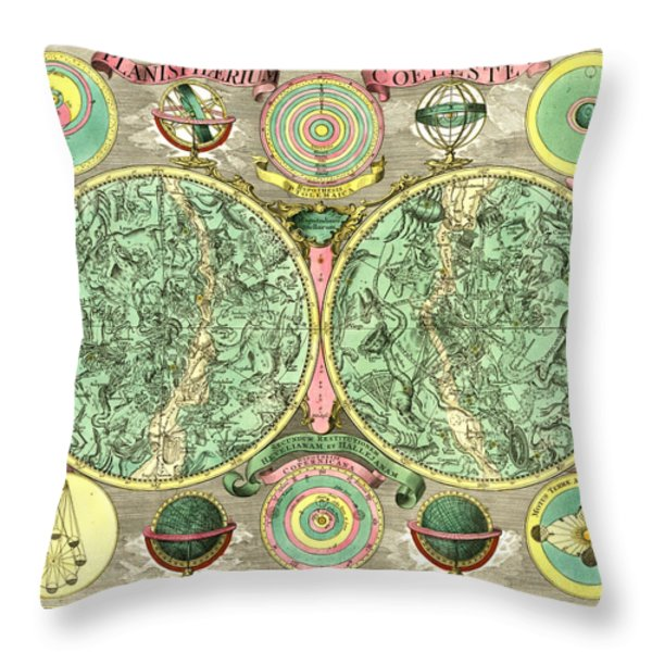 Celestial Map Throw Pillow by Gary Grayson