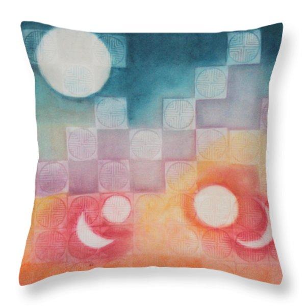 Celestial Matrix Throw Pillow by Diana Perfect