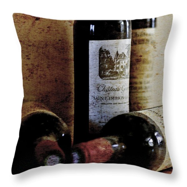 Cellar Finds Throw Pillow by Nomad Art And  Design