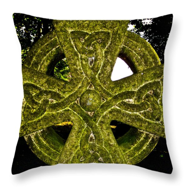 Celtic Cross Throw Pillow by David Pyatt