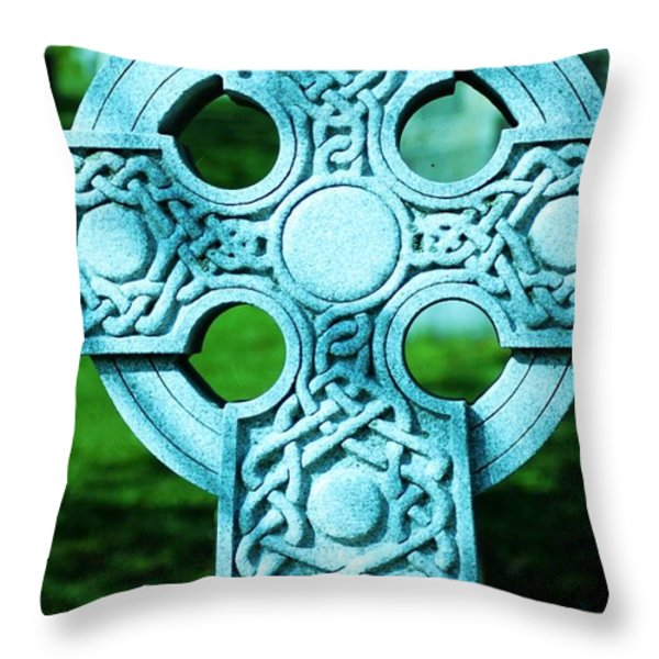 Celtic Cross Throw Pillow by Kathleen Struckle