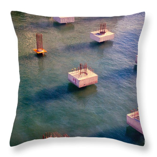 Cement Cubes Throw Pillow by Silvia Ganora