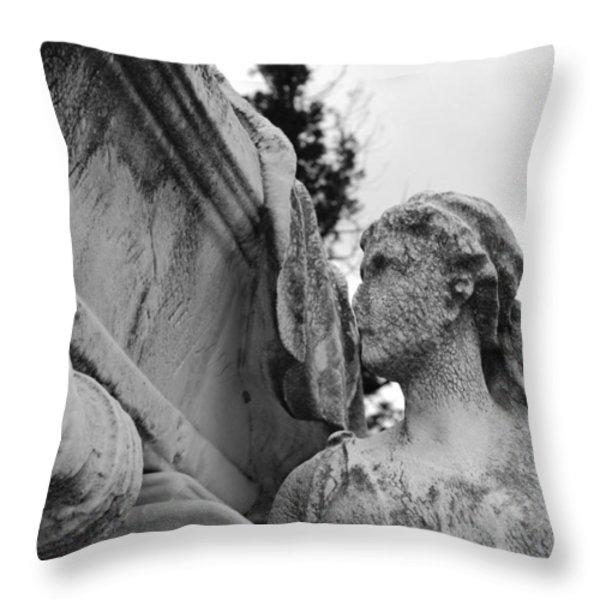 Cemetery Gentlewoman Throw Pillow by Jennifer Lyon