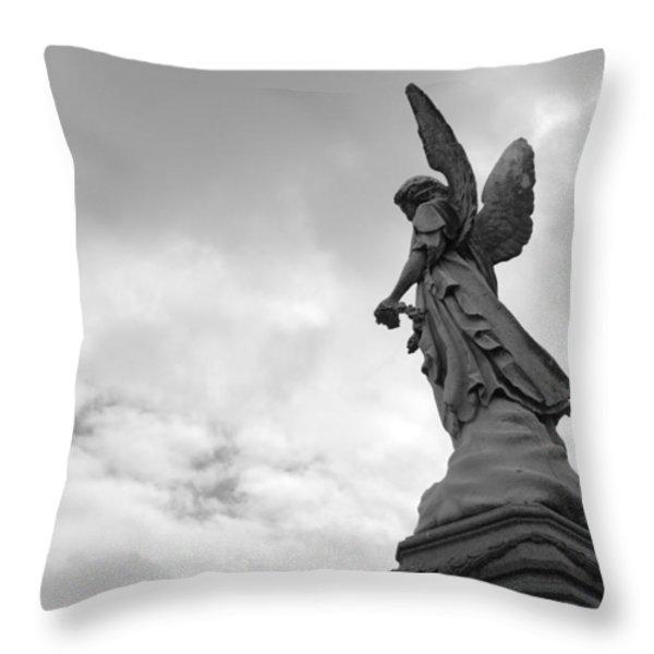 Cemetery Watcher Throw Pillow by Jennifer Lyon