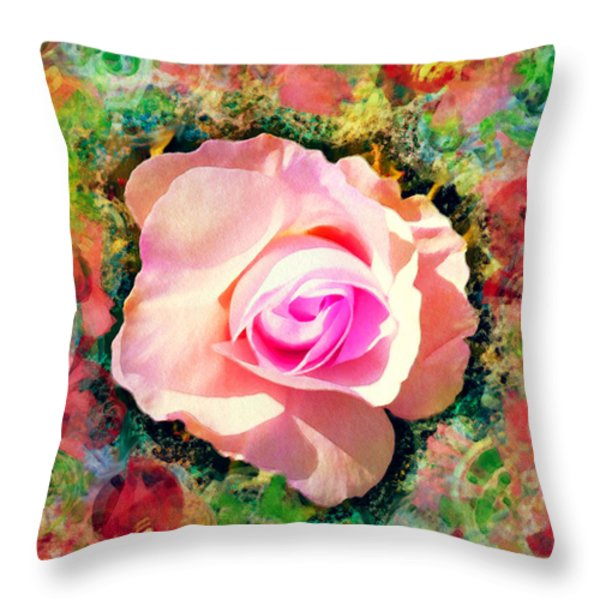 Center of Attention Throw Pillow by Moon Stumpp