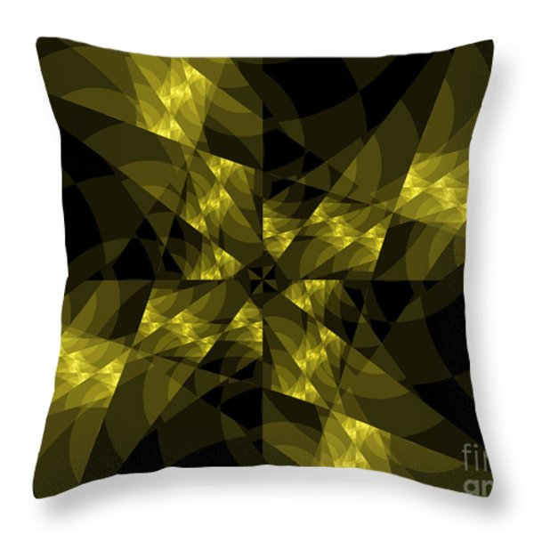 Center Square Throw Pillow by Elizabeth McTaggart
