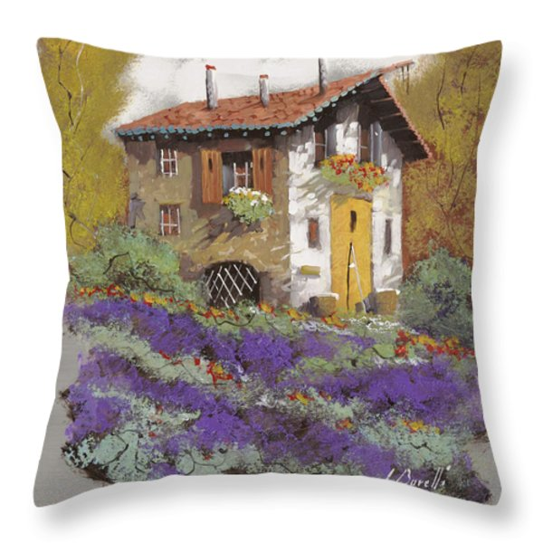 cento lavande Throw Pillow by Guido Borelli