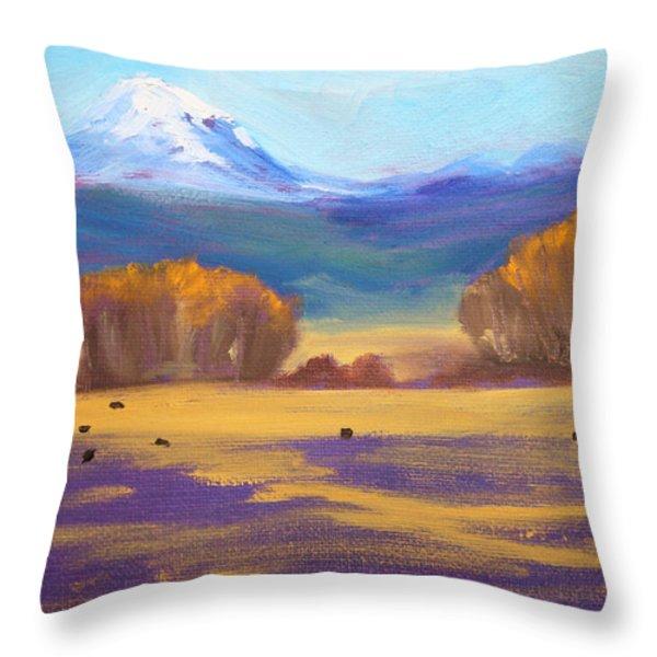 Central Oregon Throw Pillow by Nancy Merkle