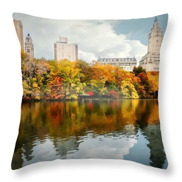 Central Park #1 Throw Pillow by Diana Angstadt