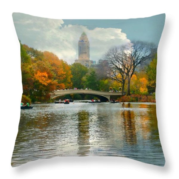 Central Park #6 Throw Pillow by Diana Angstadt