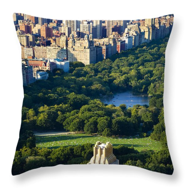 Central Park Throw Pillow by Brian Jannsen