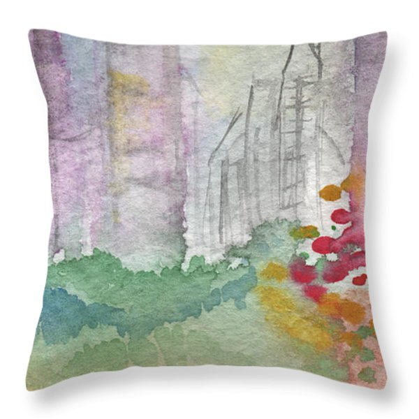 Central Park  Throw Pillow by Linda Woods