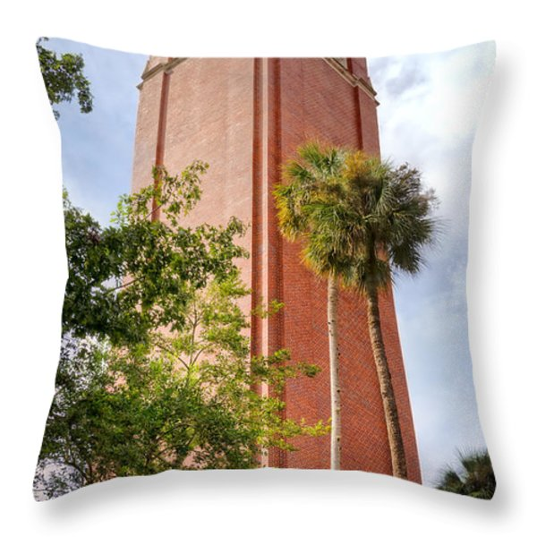 Century Tower Throw Pillow by Joan Carroll