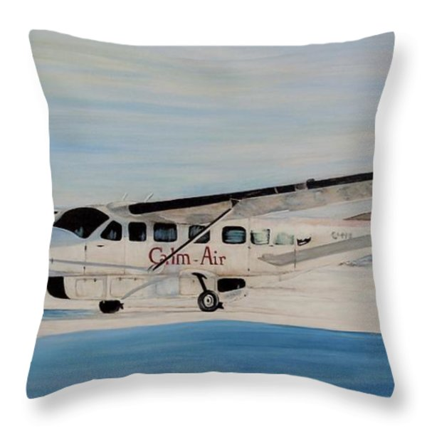 Cessna 208 Caravan Throw Pillow by Marilyn  McNish