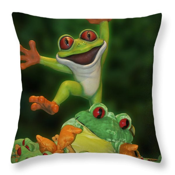Cha Cha Sign Throw Pillow by Thomas Woolworth