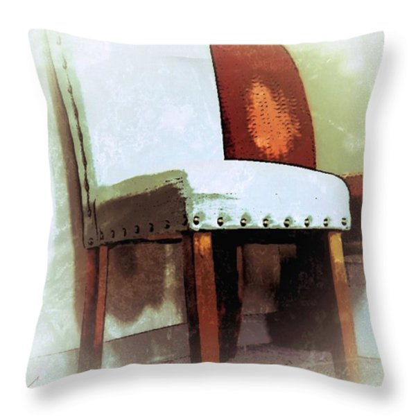 Chairs Throw Pillow by Robert Smith