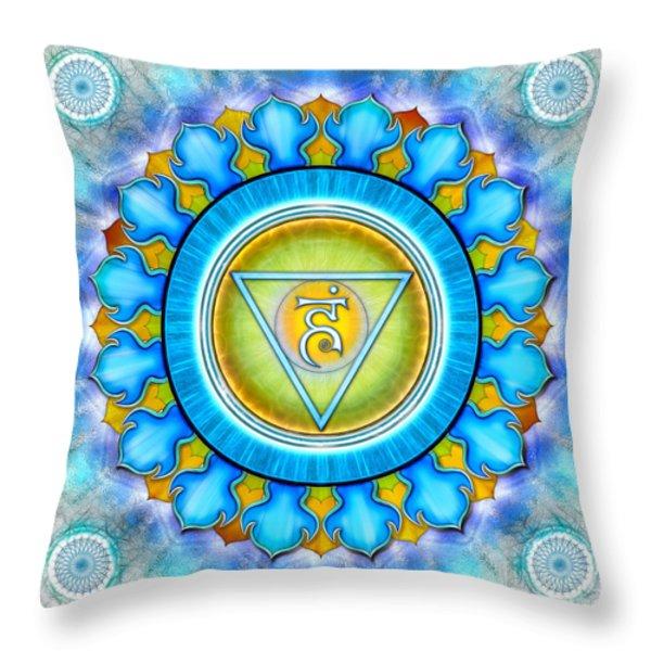 Chakra Vishuddha Series 2012 Throw Pillow by Dirk Czarnota