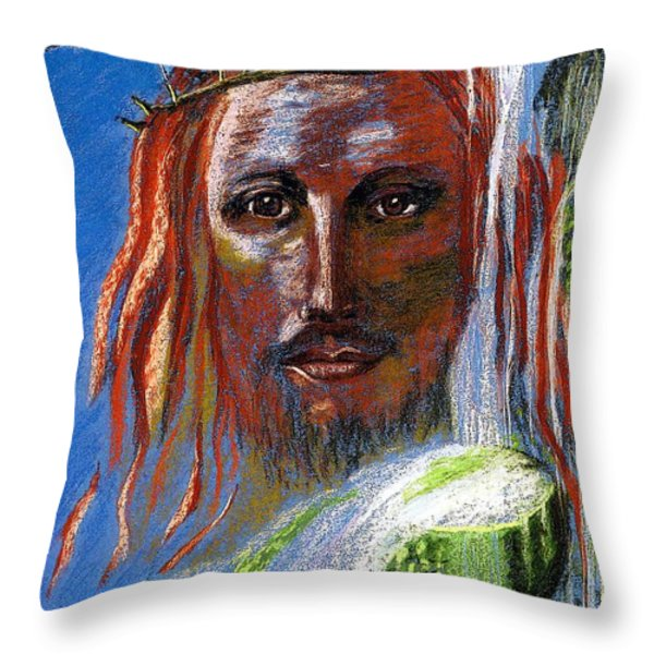 Chalice of Life Throw Pillow by Jane Small