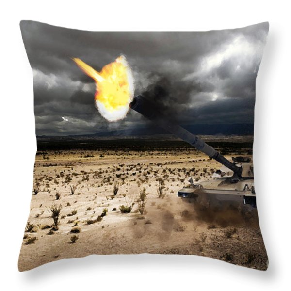 Challenger 1 Throw Pillow by J Biggadike