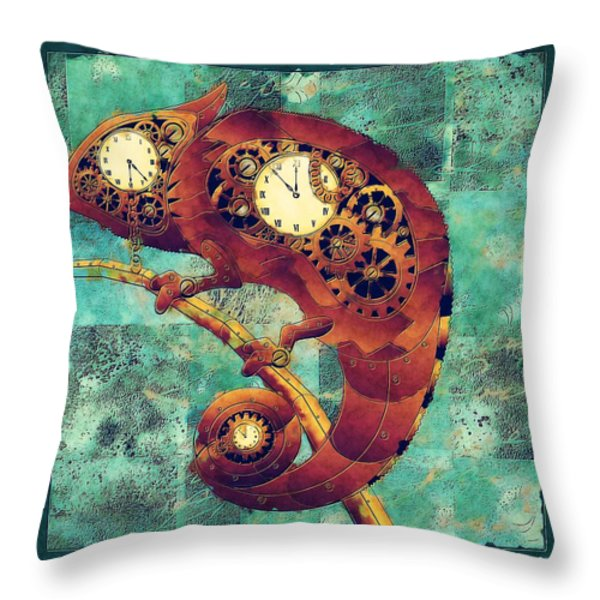 Chameleon - Aff01a Throw Pillow by Variance Collections