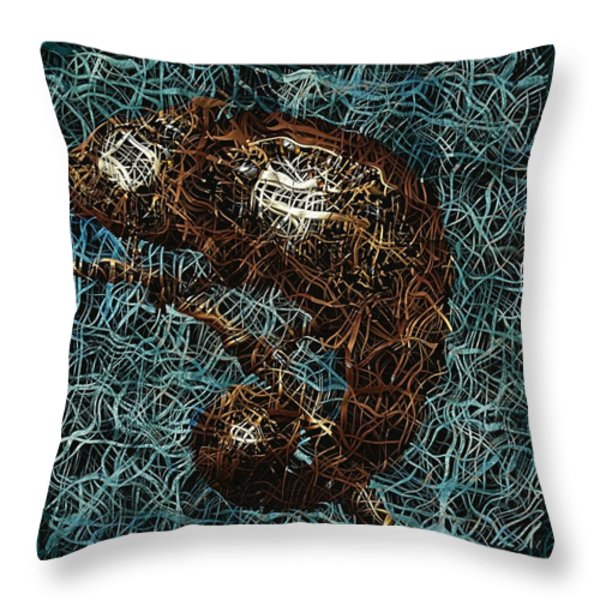 Chameleon - Fb0102b Throw Pillow by Variance Collections