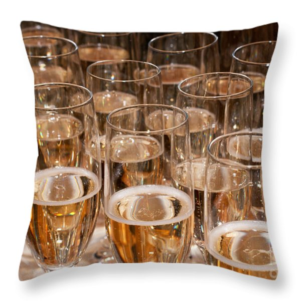 Champagne 02 Throw Pillow by Rick Piper Photography