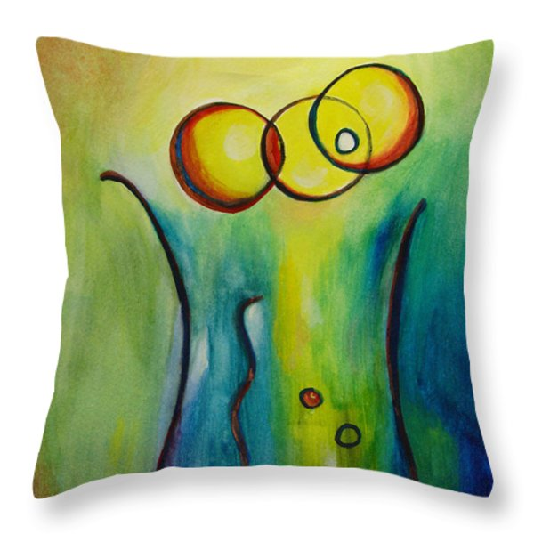 Champagne Throw Pillow by Donna Blackhall
