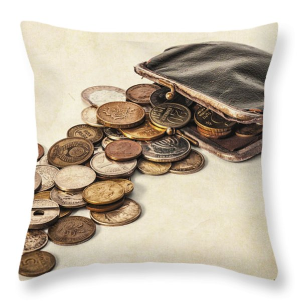Change Throw Pillow by Caitlyn  Grasso