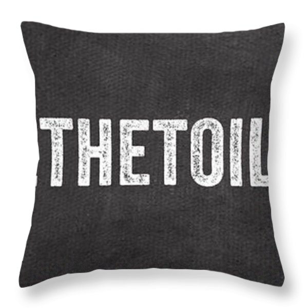 Change The Toilet Paper Throw Pillow by Linda Woods